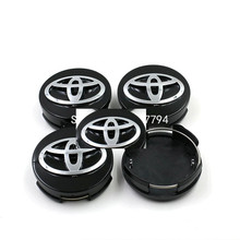 Car styling 4 pz/lotto 62mm toyota corolla avalon venza hub cap sticker toyota camry corolla wheel centro caps(China (Mainland))