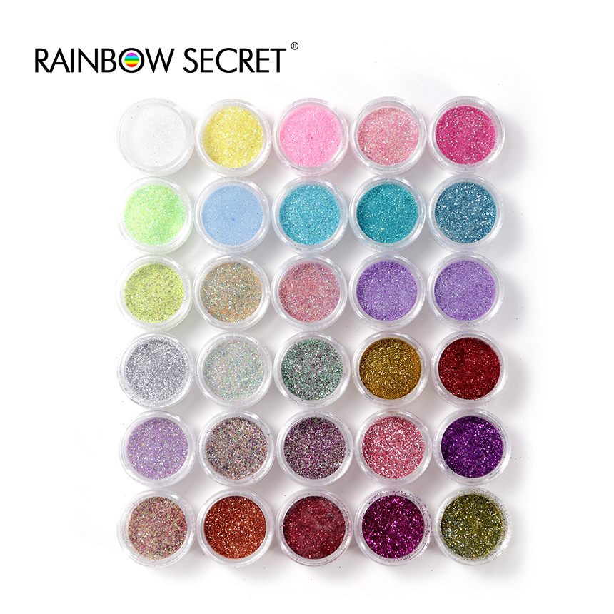 2016 hot sale30 Colors/lot Nail Glitter Powder Dust Nail Art Decoration Nail Art Metal Glitter Nail Art Tool(China (Mainland))