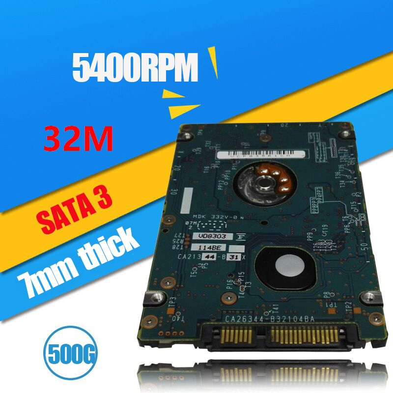 """A++++ 2.5"""" 7mm thick 2.5 Inch ST500LM021 500GB 7200RPM 32M Cache SATA6Gbps Notebook Hard Drive SATA3 500G Laptop HDD(China (Mainland))"""