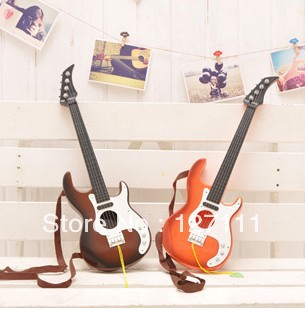 Toy guitar child musical instrument electric guitar style Beginner learning guitar 1pcs(China (Mainland))