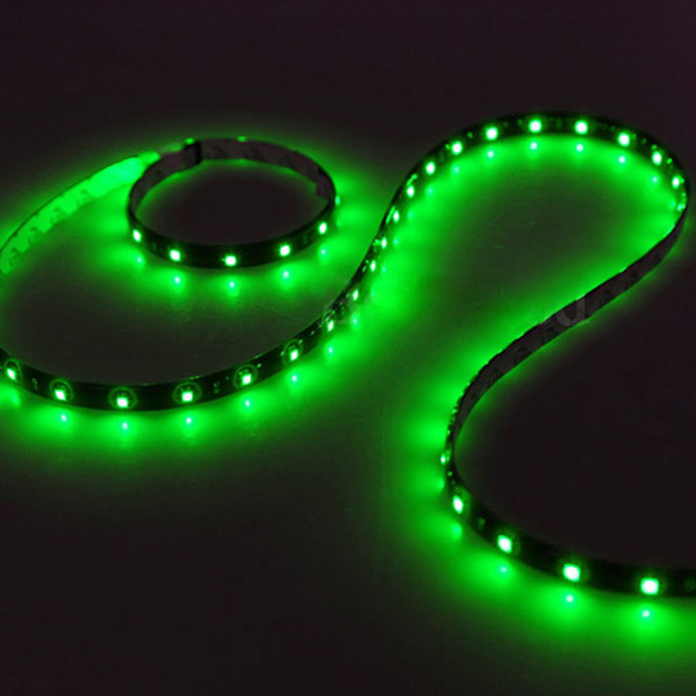 FS Hot 120CM 60SMD Car Strip Under Light Neon Footwell Flexible - Green(China (Mainland))