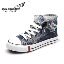 2014 spring new men washed denim canvas shoes high top platform sneakers casual  flat shoes espadrilles men's sneakers