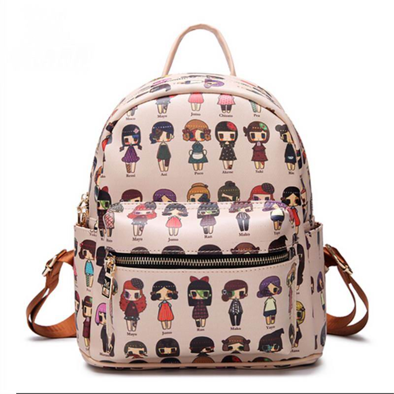 Exquisite new personality shoulder bag small bag cartoon girl mini sweet bag small backpack(China (Mainland))