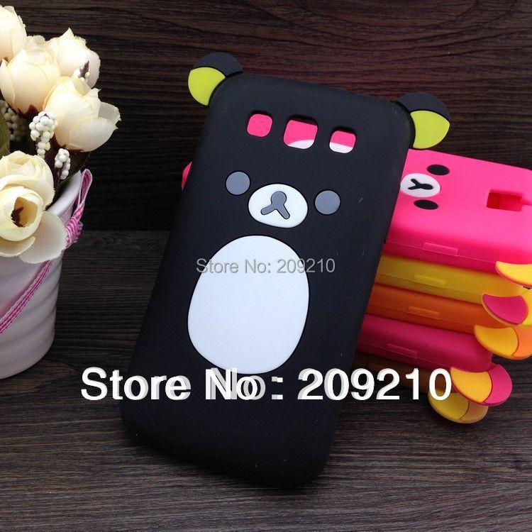 Cartoon Rilakkuma Lazy Bear Soft Back Case Samsung Galaxy Win I8552 I8550 I8558,Retail Package, - Big size clothes store