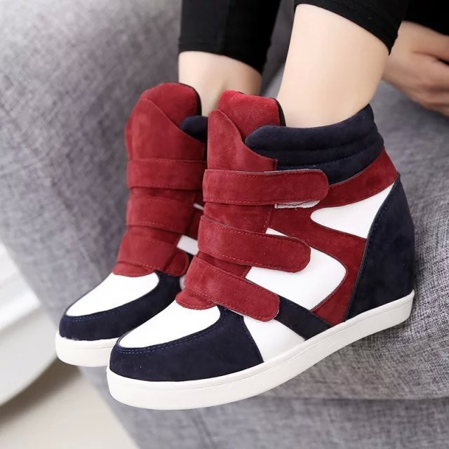 New Autumn Winter Women Boots Platform Height Increasing Women Fashion Shoes Ankle Boots Warm Snow Boots