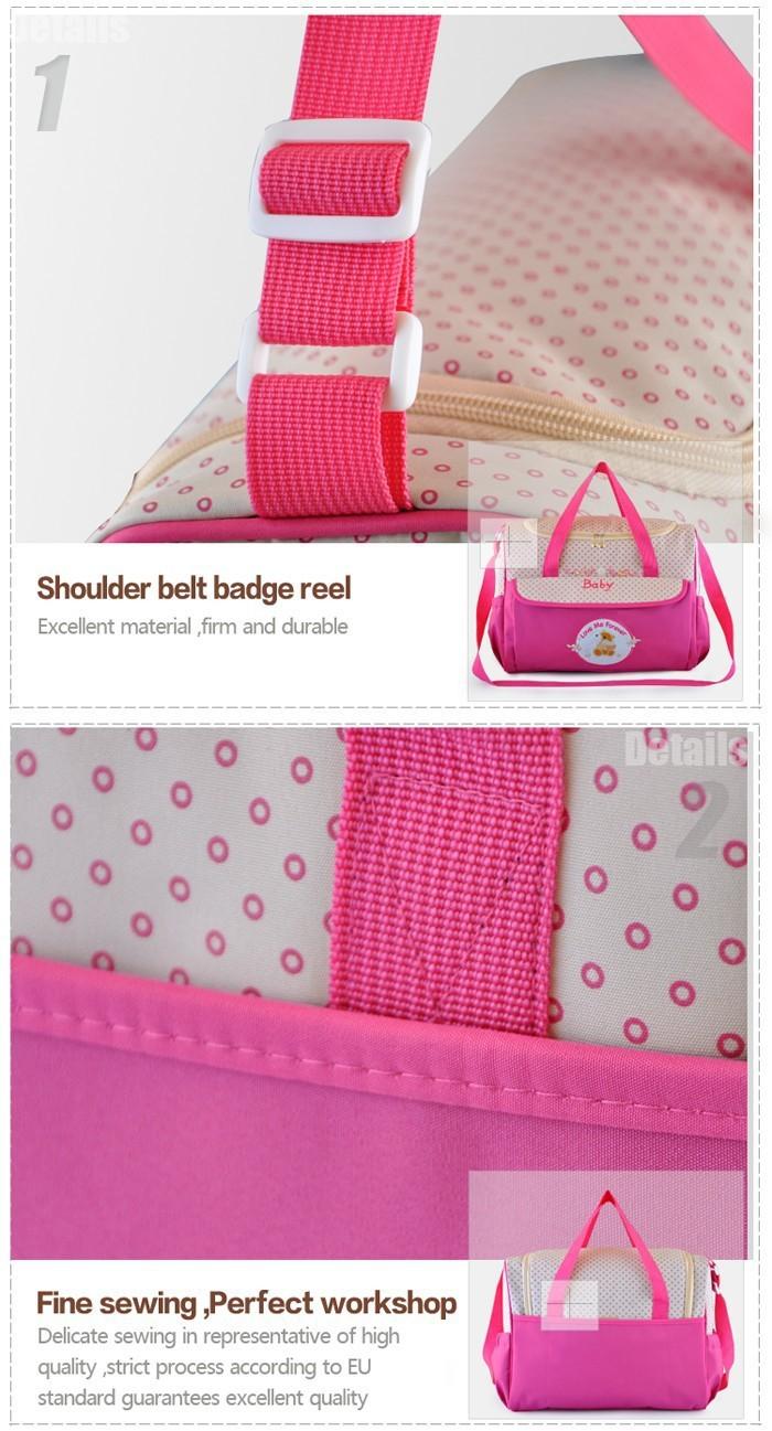 Новый дизайн 3 цвета пеленки младенца сумки для мамы Марка детские путешествия подгузник сумки Bebe организатор коляска сумки для родильного/185