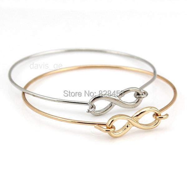 2015 New Women Fashion Jewelry Charm Infinite Bracelet Thin Bangle Girls Xmas Gift RDV(China (Mainland))