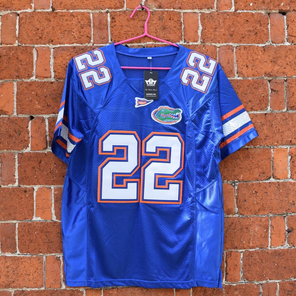 MASMIG Emmitt Smith 22 Florida E.Smith Football Jersey Blue M-3XL(China (Mainland))