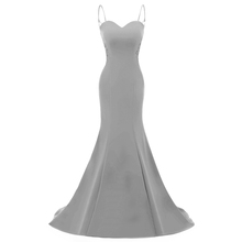 Robe De Soiree 2017 Empire Mermaid Royal Blue Evening Dress Straps Party Elegant Vestido De Festa Long Prom Gown With Appliques(China)