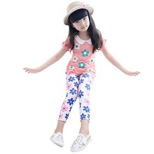 2016 new Spring Autumn Summer baby girls leggings girl candy color flower print kids pants children's trousers