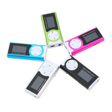 Top Quality New Fashion Portable Mini Clip Mp3 Player LCD Screen Support 16GB TF Ligh With Flashlight Card Slot FM Mp3 Players