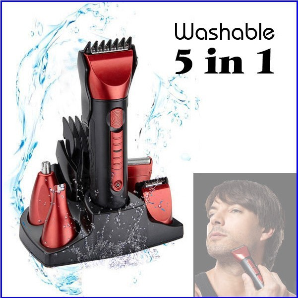 5 in 1 Electric Shaver Hair Clipper Professional Nose Hair Trimmer Children Cutting Machine Tool shaving Shaver For Men(China (Mainland))