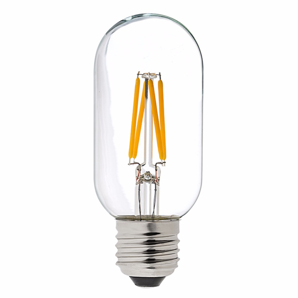 t45 4w led filament light bulb edison tubular shape warm. Black Bedroom Furniture Sets. Home Design Ideas