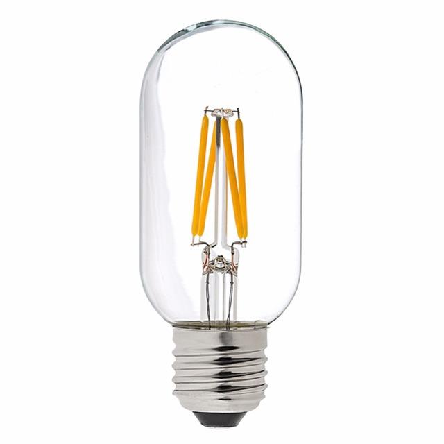 t45 4w led filament light bulb edison tubular shape warm. Black Bedroom Furniture Sets. Home Design Ideas