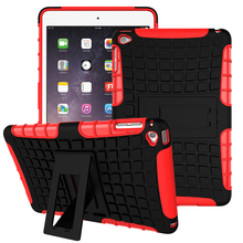 2 in 1 Armor Case Hybrid Kickstand Stand Cover For iPad mini 1 2 3 4 / iPad 6 iPad air 2 Combo Hard PC + Soft TPU Back Case(China (Mainland))