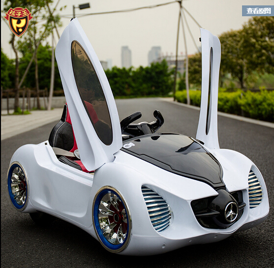 king childrens electric cars mercedes benz four wheel double drive remote control car toy