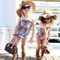 2016 Newest Kids Baby Girls One Piece Tiger Bikini Swimwear Swimsuit Bathing Suit Beachwear One Piece