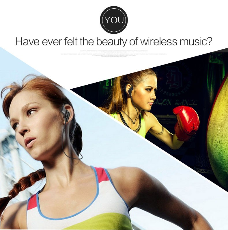 Smart Universal S-501 4.1 Bluetooth Wireless Stereo Headset Sports Running Headphone Ear-Hook Earphone with Microphone