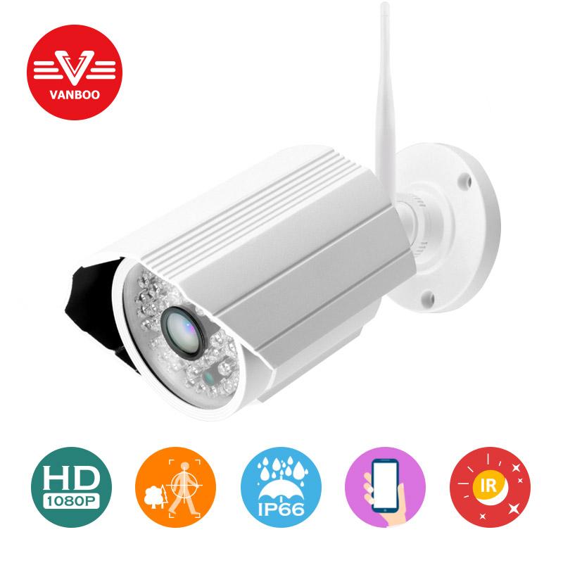 FULL HD outdoor 2.0mp 1920*1080p wifi wireless cctv ip camera ONVIF P2P Outdoor waterproof IR-CUT Night Vision Security camera(China (Mainland))