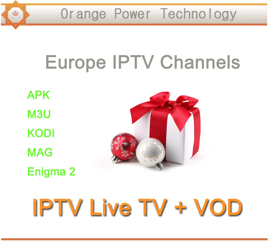 Best Europe IPTV 3 months France UK Germany Spain Italy IPTV Channels for M3U Smart TV Android Enigma2 MAG Live + VOD Channels(China (Mainland))