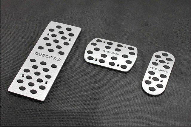 New Aluminium Alloy Foot Pedal Rest Plate Mazda  Speed Mazda 3 6 M3 M6 AT 3PCS AT