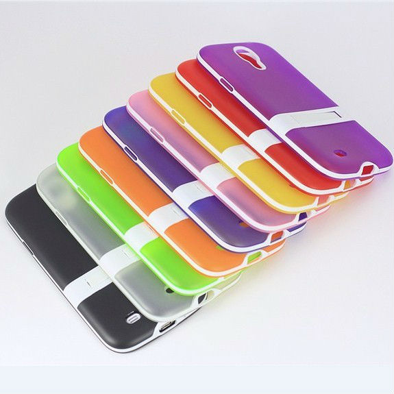 Hybrid two color Kickstand TPU Case Back Cover SAMSUNGGalaxy S4 i9500 9505 1 piece - Kampass Electronics Company Limited store