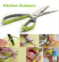 Stainless Steel Multifunction Kitchen Shears Heavy Duty Poultry Shears Frozen Bone Meat Cutter Kitchen Scissors Household Tools(China (Mainland))