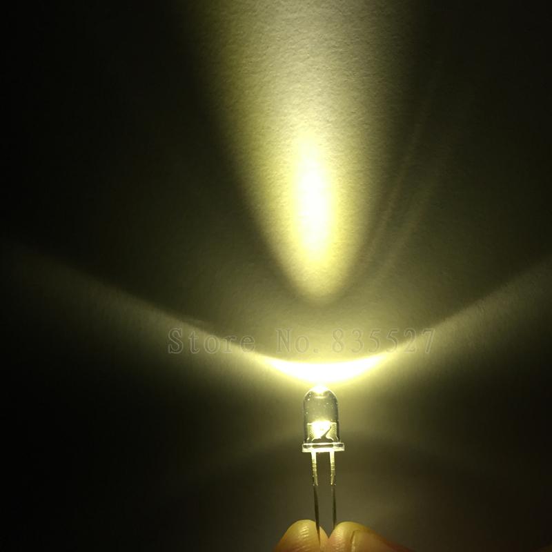 100pcs / lot warm white 5mm round LED lamp beads super bright LED Light-emitting diodes (leds)(China (Mainland))
