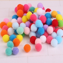Buy 100pcs/set Plush Multicolour DIY Decoration Pompon Ball Fur Ball Party Favors Crafts Festival Events Supplies 15 20 30 40 mm for $1.02 in AliExpress store