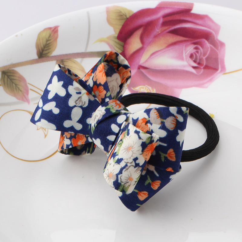 2016 New Arrival Girls Ribbon Hair Accessories Flower Headwear Sweet Hairbands Floral Rubber Bands Women Elastic Hair Bands(China (Mainland))