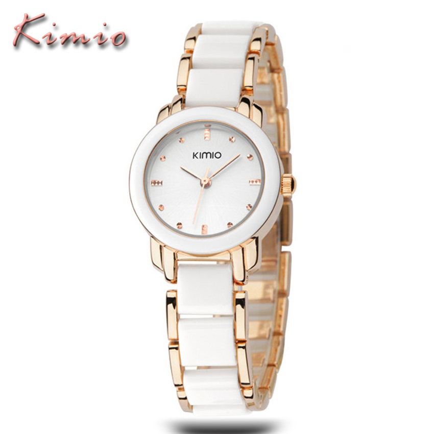 KIMIO Woman Watches Top Brand Luxury Reloj Oro Rosa Mujer Montre Etanche Femme Ladies Bracelet Quartz Watches Relogio Feminino(China (Mainland))