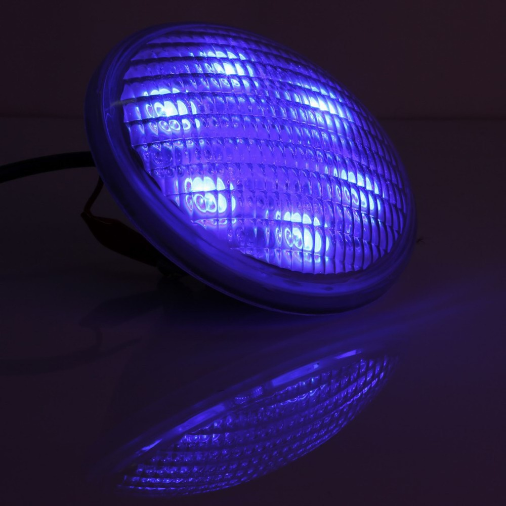 USA Stock Stainless steel +PC remote control IP68 PAR56 54W RGB, AC12V/24V LED Swimming pool light underwater light(China (Mainland))