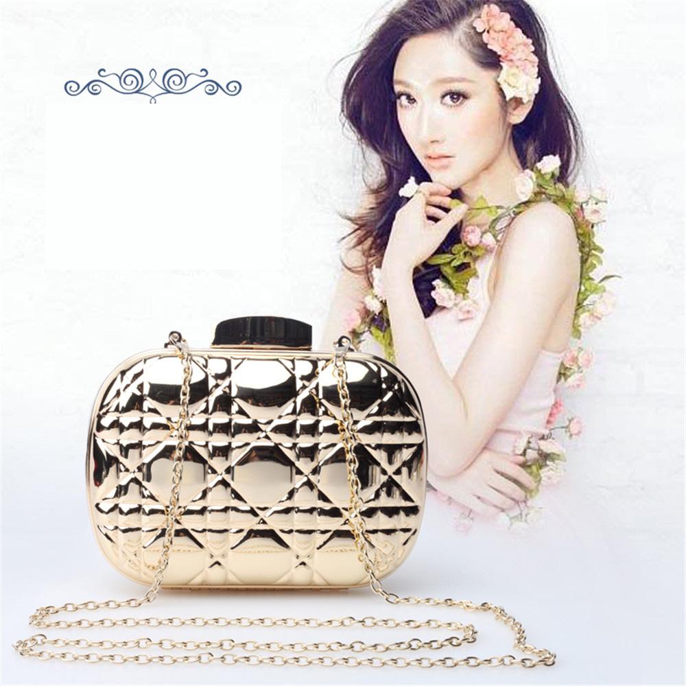 Fashion Women Handbag Small Evening Bags Metal Shoulder Bag Purse 2015 New Party Bag Day Clutch Women Wedding Bag Wallets(China (Mainland))