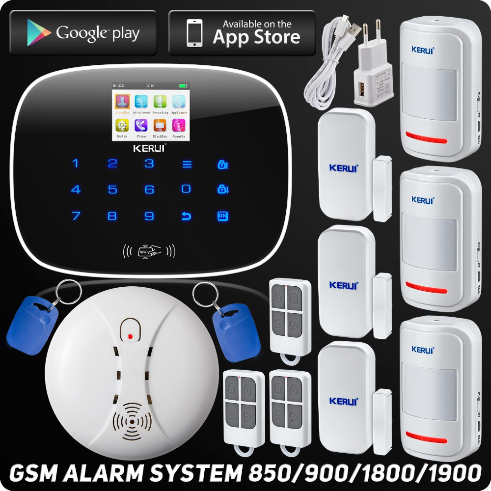 Wireless GSM Voice Home Burglar Security Alarm ISO Android App Control Autodial TFT Color Display Wireless Smoke Detector(China (Mainland))