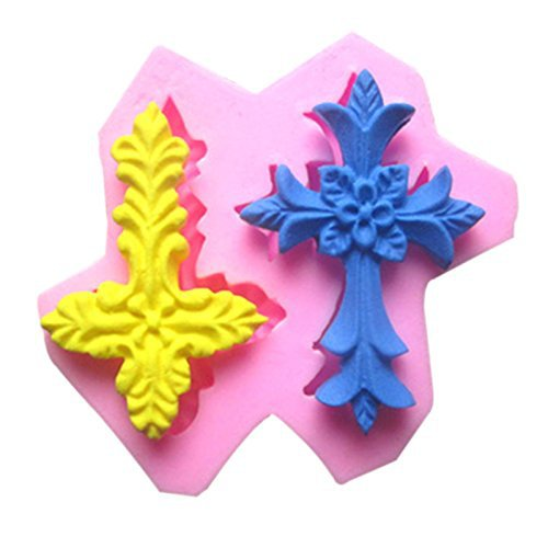 Cross Thanksgiving Silicone Cake Decorating Fondant Mold Candy Mould ...