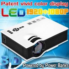 Actualiza Mini Pico Proyector portátil UC401920 * 1080 P Proyector w USB HDMI para cine en casa 3D Beamer Multimedia LCD Proyector llevado(China (Mainland))