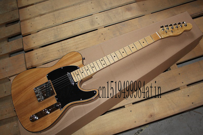 Free shipping Best price High Quality nature color telecaster guitar Ameican standard telecaster electric Guitar @14(China (Mainland))