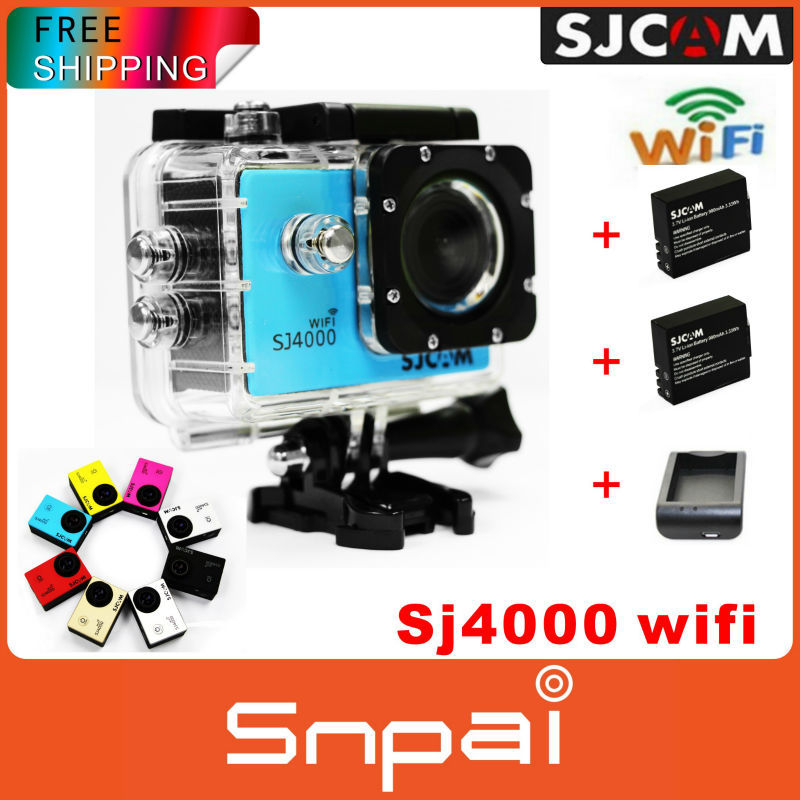 Original SJCAM SJ4000 WIFI video action camera full hd 1080p waterproof GoPro Style Sport camrea+2extra battery+battery charger(China (Mainland))
