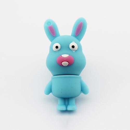 Genuine Gadget USB Stick Pen Drive Cartoon Blue Rabbit USB Flash Drive Pendrive Promotion 4GB 8GB 16GB 32GB(China (Mainland))