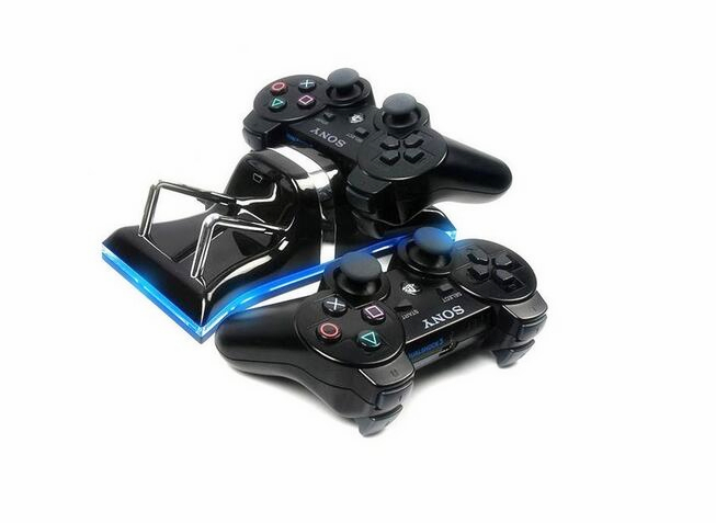 Fashion for ps3 controller Charging Blue Light Sturdy High Speed Dual Controller USB Charging Charger Charging for PS3(China (Mainland))