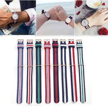 Mujeres hombres fibra de carbono de Nylon venda del reloj de la correa de la correa del corchete 20 mm