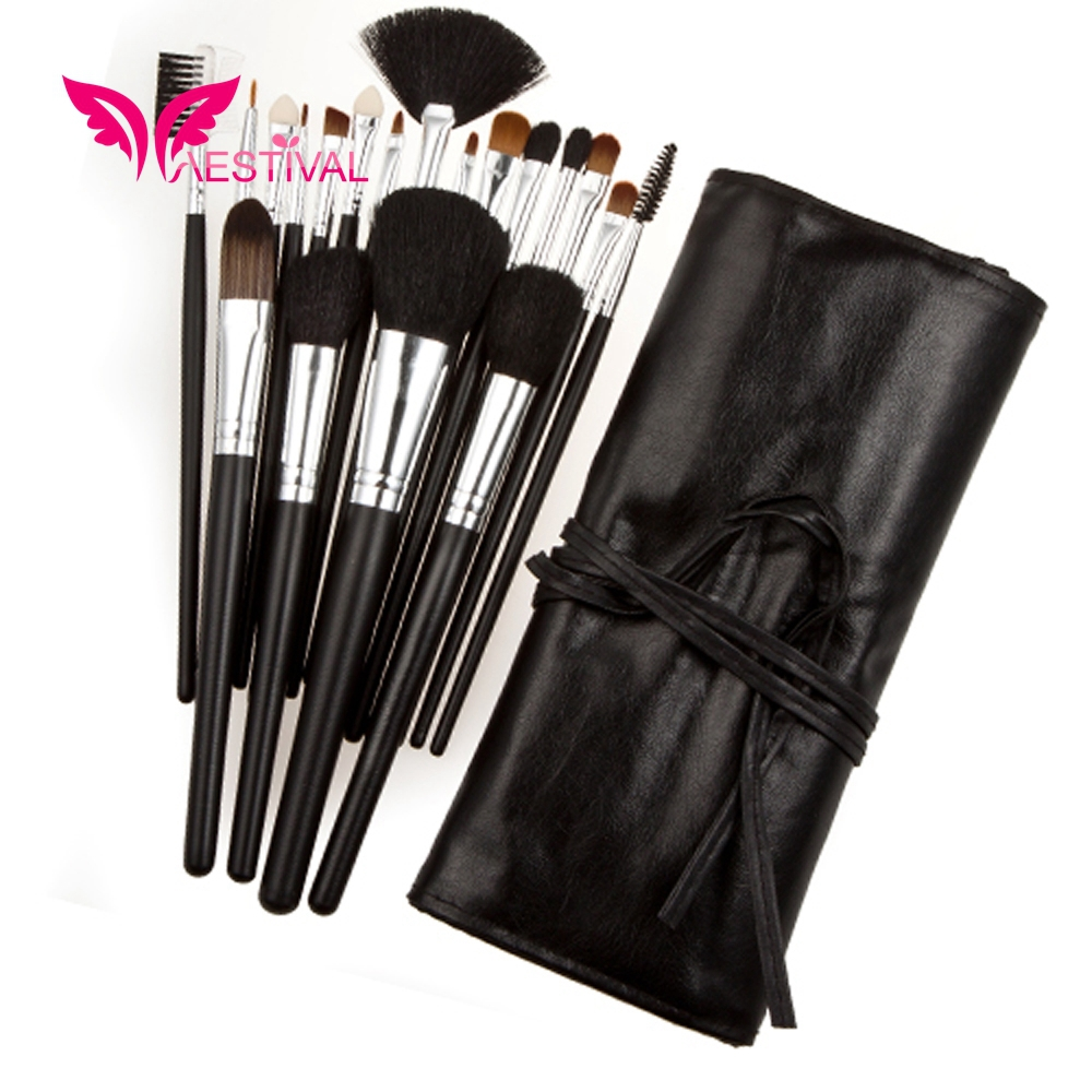 2015 New Arrival ,Xaestival Professional 19 Pieces Makeup Brushes Set With Black Case Free Shipping(China (Mainland))
