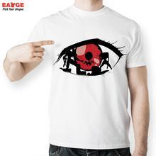 [EATGE] Exclusive Creative Neon Genesis Evangelion In Ray Red Eye T Shirt White EVA T-shirt Fashion Brand Printed Men