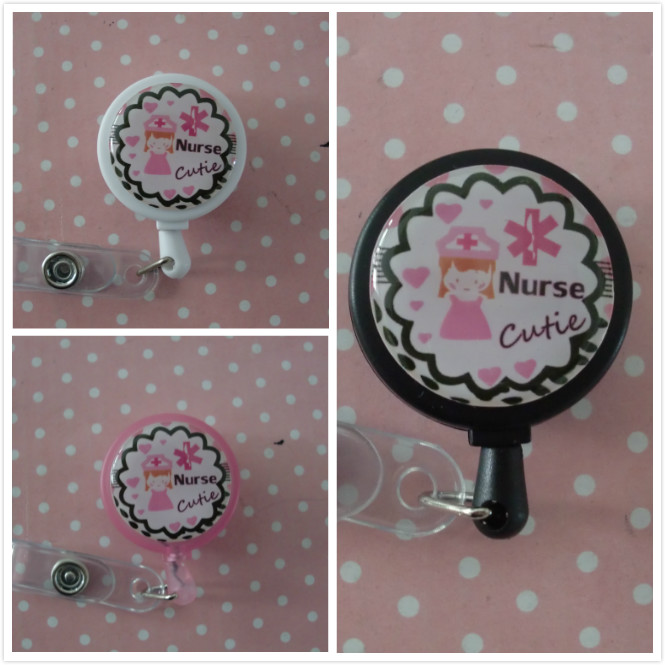 NURSE RN CNA PERSONALIZED Name Retractable Work ID Badge Holder Lanyard Clip Cap <br><br>Aliexpress