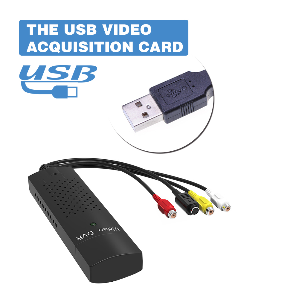 DVD DVR USB 2.0 Capture Video Adapter Converter Cable With Stereo Audio RCA S-Video Input for PC Laptop(China (Mainland))
