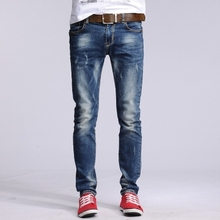 Fashion designer cotton men's jeans brand jeans Slim Straight jeans torn Cyclist young men Slim jeans brand(China (Mainland))