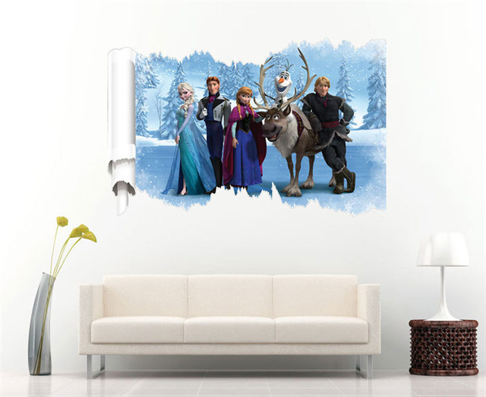 Hot snow queen princess queen elsa wall sticker viny for Home decor queen west