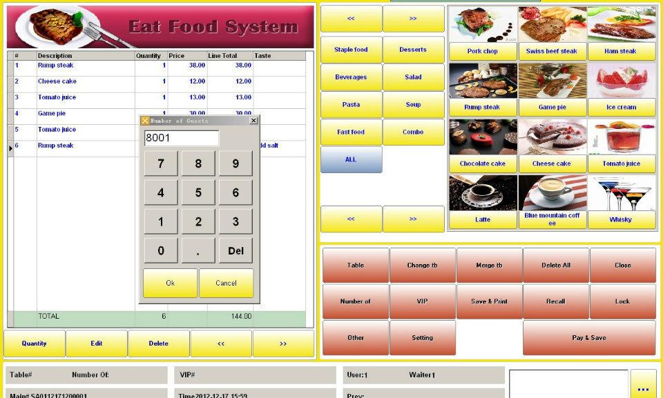 English Restaurant Pos Software System Coffee Shop Hot Pot