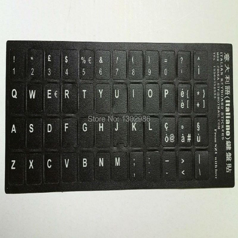 50pcs Italian Letters Alphabet Learning Keyboard Layout Sticker For Laptop Desktop Computer Keyboard 10 inch Or