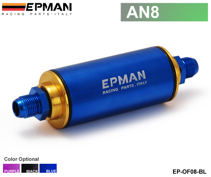 Epman Racing Ready Inline Fuel Filter AN8 Blue with 100 Micron Element EP-OF08-BL(China (Mainland))